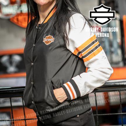 Bomber da Donna Harley-Davidson® Sleeve Stripe