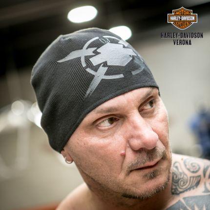 Cappellino uomo Harley-Davidson® Bar & Shield Circle X Knit Beanie