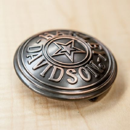 Harley-Davidson® Mens Circle Star Military Graphic Buckle