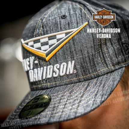 Cappello Harley-Davidson® grafica a scacchi