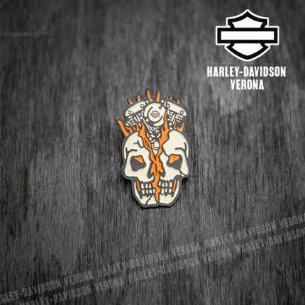 Pin Harley-Davidson® Skull Bust Enamel