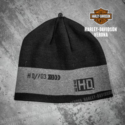 Berretto Harley-Davidson® Stripe Grey-Black