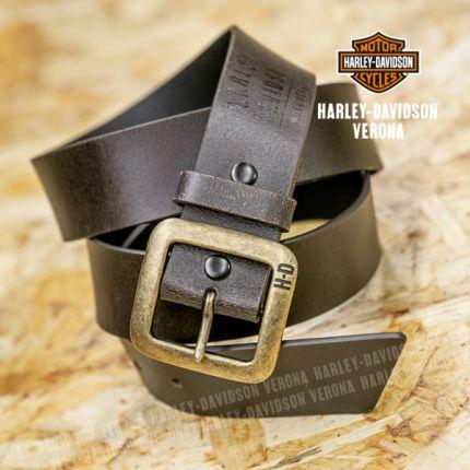 Cintura da uomo Harley-Davidson® Brass