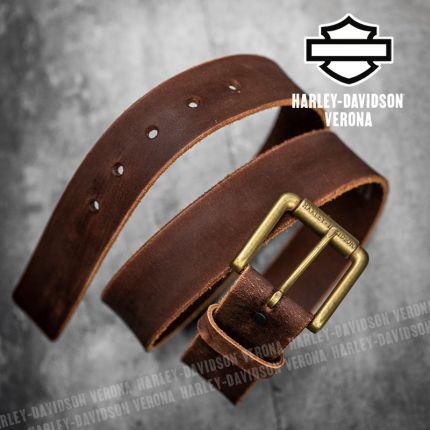 Cintura in Pelle Harley-Davidson® Distressed Brown