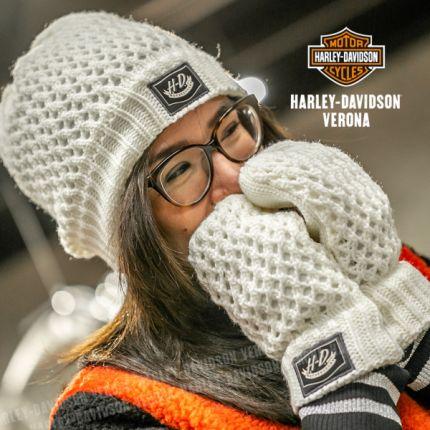 Set Guantini e Cappellino Harley-Davidson® OPEN KNIT