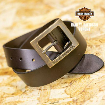 Cintura in pelle Harley-Davidson® Distressed con fibbia in ottone