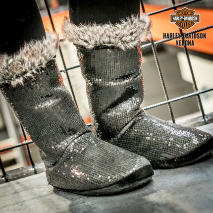Babbucce Harley-Davidson® paillettes
