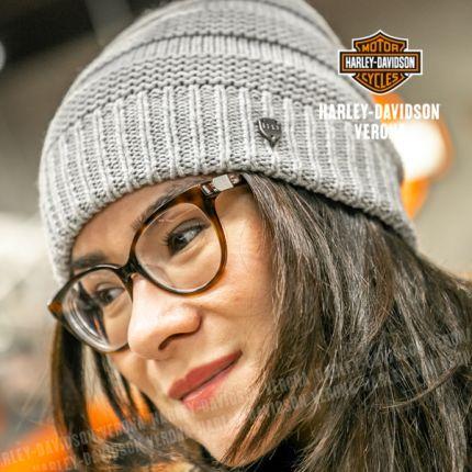 Cappellino da Donna Harley-Davidson® SLOUCH KNIT, Grey