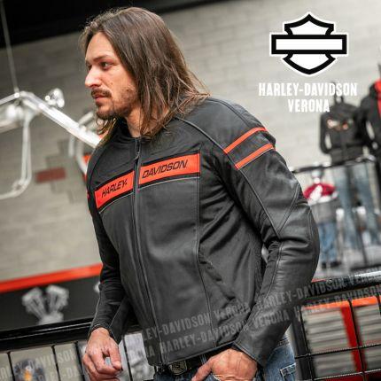 Giacca in Pelle da Uomo Harley-Davidson® Brawler