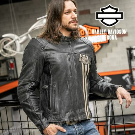 Giacca in Pelle Harley-Davidson® Passing Link II