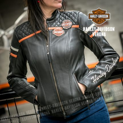 Giacca in pelle Harley-Davidson Miss Enthusiast