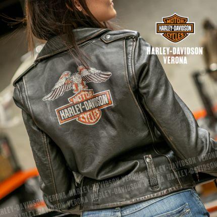 Giacca in Pelle Harley-Davidson® Eagle Logo