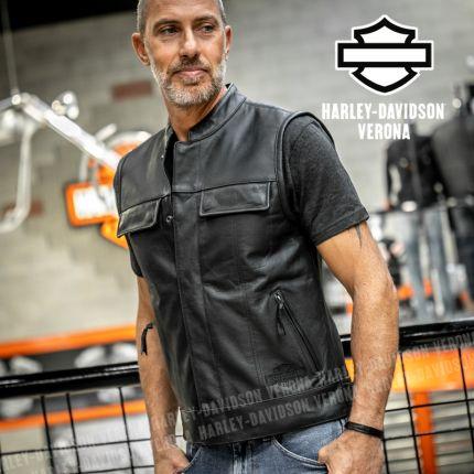 Gilet in Pelle Harley-Davidson® Foster