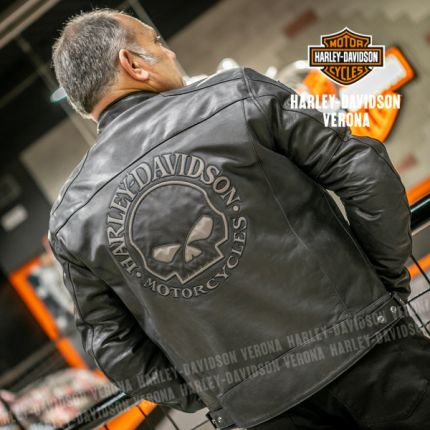 Giacca Pelle Harley-Davidson® Reflective Skull
