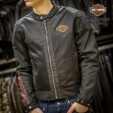 Giacca traforata Harley-Davidson® B&S Logo Blk