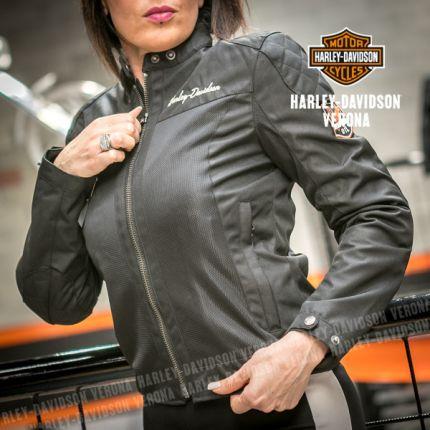 Giacca traforata Harley-Davidson® Mesh B&S® Logo