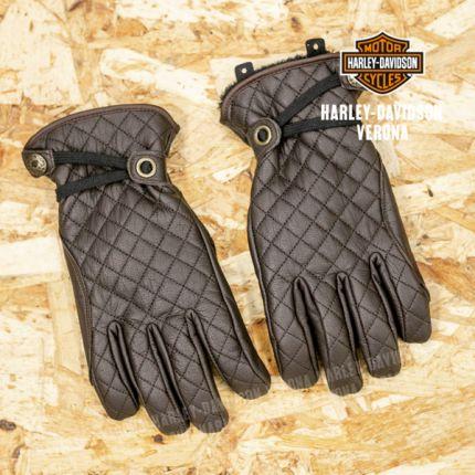 Guanti in pelle marrone da donna Harley-Davidson® Messenger