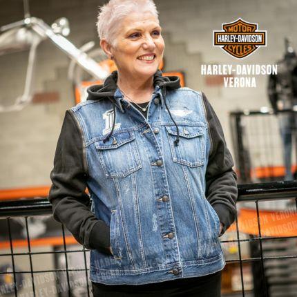 Giubbino Gilet Harley-Davidson® Denim Blue