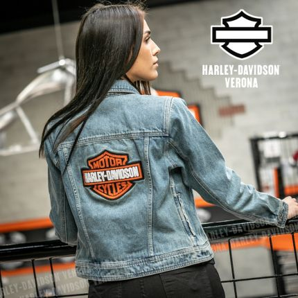 Giubbino Harley-Davidson® Denim B&S Logo
