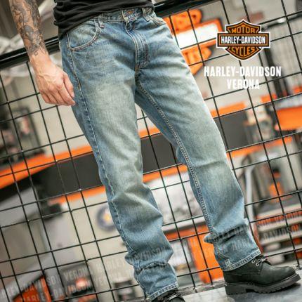 Jeans Harley-Davidson® Straight Light Wash, Denim