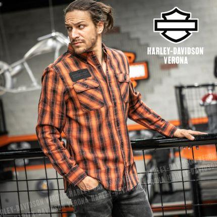 Camicia Harley-Davidson® Leaf Plaid