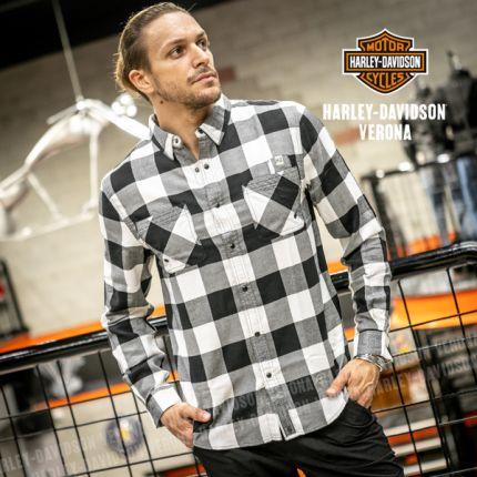 Camicia Harley-Davidson® Woven Black&White
