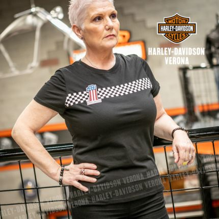 T-Shirt Harley-Davidson® Checkered Stripe