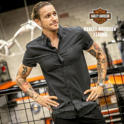 Camicia Harley-Davidson® Woven Black