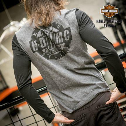 T-shirt maniche lunghe uomo Harley-Davidson® gray-black