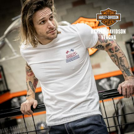 T-Shirt Harley-Davidson® Race Flag White