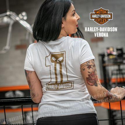 T-Shirt Harley-Davidson® Metallic #1 Skull