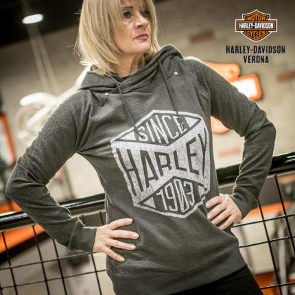 Felpa chiusa donna Harley-Davidson® grey