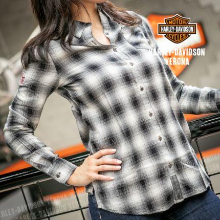 Camicia da Donna Harley-Davidson® CRACKLE PRINT GRAPHIC