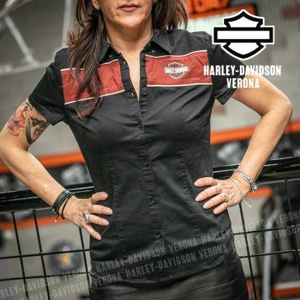 Camicia Harley-Davidson® Washed Striped