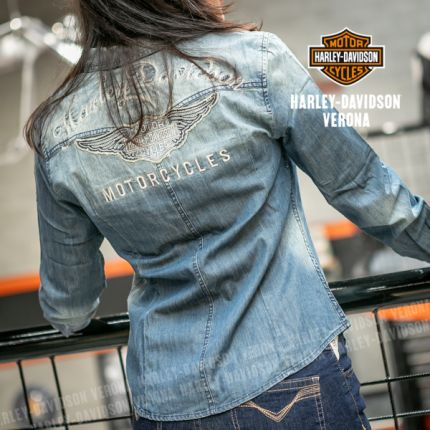 Camicia da Donna Harley-Davidson® in Denim classico