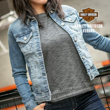 Giacca in jeans Harley-Davidson® Patch & Pins