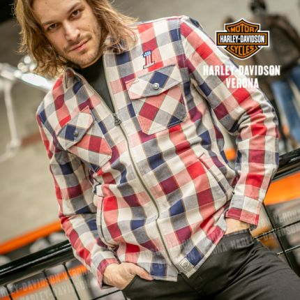 Camicia/Giacca da Uomo Harley-Davidson® #1 Plaid Zippered