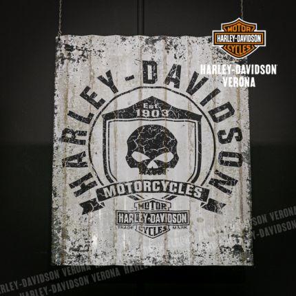 Insegna Harley-Davidson® Skull Corrugate
