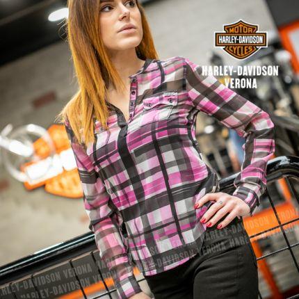 Camicia da Donna Harley-Davidson® Printed Chiffon Top