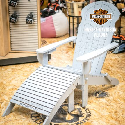 Sdraio Harley-Davidson® Skull Adirondack