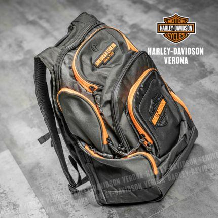 Zaino Deluxe Harley-Davidson® Neon Orange Bar & Shield