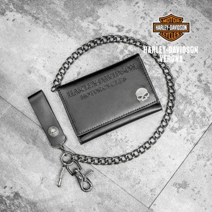 Portafoglio in Pelle Harley-Davidson® Skull Medallion Medium