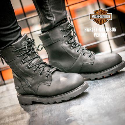 Stivali in Pelle waterproof da Donna Harley-Davidson® JENELL