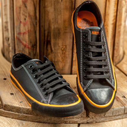 Sneakers nere in pelle Harley-Davidson® Roarke
