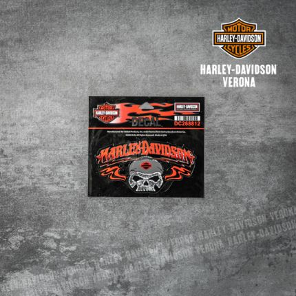 Adesivo Harley-Davidson® Skull Red