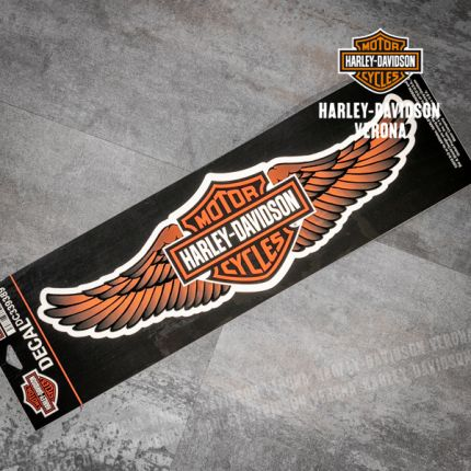 Adesivo Harley-Davidson® Straight Wings Orange
