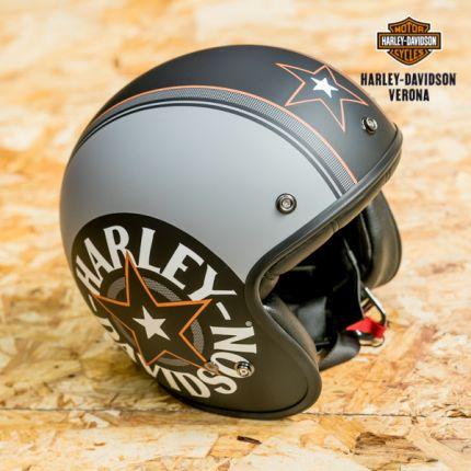 Casco Harley-Davidson® Grey Star Retro 3/4