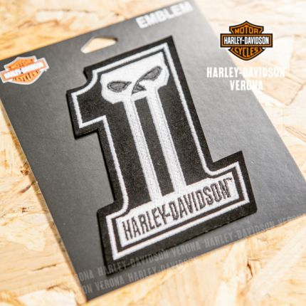 Patch Harley-Davidson® #1 Nero e Bianco
