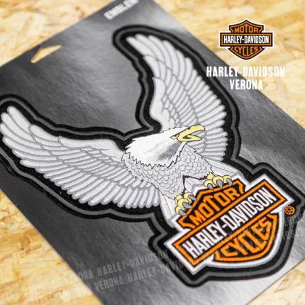 Patch Aquila Alata Harley-Davidson® Grande Argento