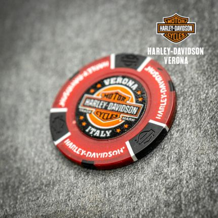 Poker Chip Harley-Davidson® Colore Rosso